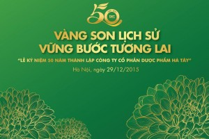 Ha Tay Pharmaceutical Company's 50th anniversary and received the Merit of the Hanoi People's Committee